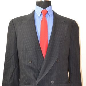 Mani 41R Sport Coat Blazer Suit Jacket Black